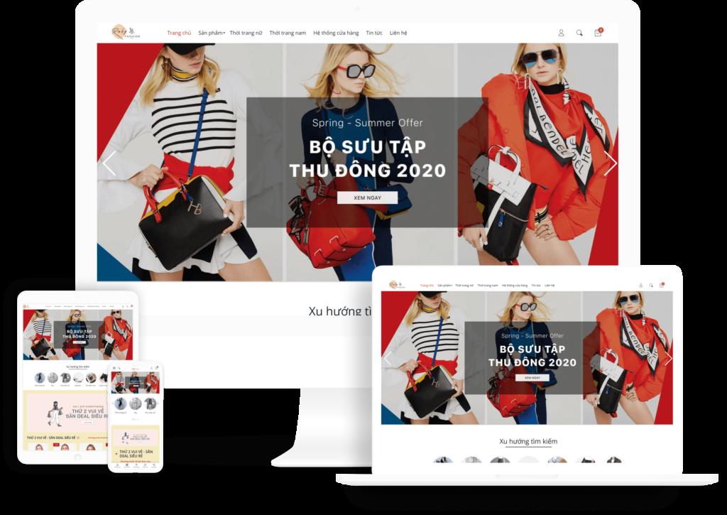 EGA Fashion - Giao diện thời trang
